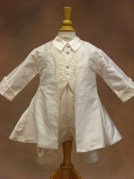 Cassiani Couture Boys Silk Christening Outfit Brian A