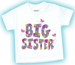 Big Sister T-Shirt with Flowery Pattern
