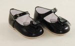 Girls Patent Leather Black Shoe with Bow