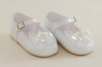 Girls Patent leather White Shoe with Bow