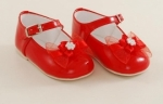 Girls Patent Leather Red Shoe with Bow