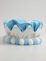 Light  Blue Birthday Crown