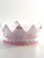 First Birthday Crown Light Pink