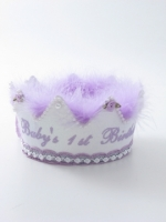 First Birthday Crown Lavender