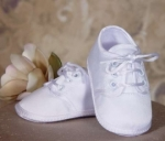 Matte Satin Christening Shoes by Little Things Mean Alot