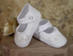 Girls Cotton Christening Shoes by Little Things Mean Alot