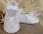 Girls Organza Christening Shoe by Little Things Mean Alot