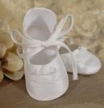 Girls Silk Christening Shoe by Little Things Mean Alot