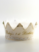 Girls First Birthday Ivory Crown