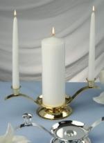 Wedding Unity Candel Holder - Gold