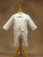 Boys Matte Satin Baptism Outfit  by Angels  2245
