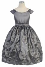 Sweet Kids Silvery Gray Dress - 303