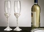 Calla Lily Toasting Glasses