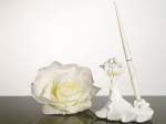 Bride and Groom with Calla Lily Bouquet Pen Set