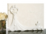 Bride and Groom with Calla Lily Bouquet Guest Book