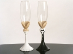 Black Tie Collection Toasting Glasses