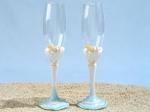 Starfish beach theme Toasting glasses set