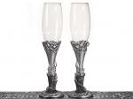 Platinum Castle collection Toasting Glasses. 1753CC