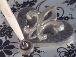 Platinum Fleur De Lis collection Pen set. 1756CC