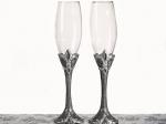Platinum Fleur De Lis collection Toasting glasses. 1757CC