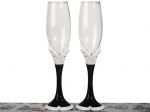 The Black and White collection Toasting glasses. 1761CC