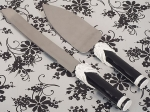 The Black and White collection Cake and Knife set. 1762CC
