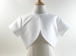 White Bolero with Pearl Button
