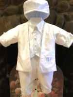 Antonio    Christening Baptism Outfit by Christie Helene