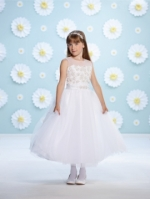 116382 First Communion Dress by  Joan Calabrese Mon Cheri Discounted