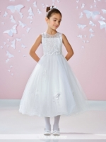 117333 First Communion Dress by  Joan Calabrese Mon Cheri Discounted