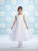 116371 First Communion Dress by  Joan Calabrese Mon Cheri Discounted