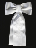 Boys First Communion Armband Embroidered with Chalis and Cross