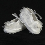 Girls Satin Christening Baptism Shoe