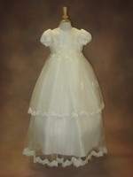 Fabiola Christening Gown by Piccolo Bacio Diamond White