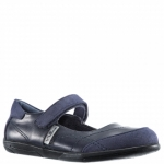 Navy Nina Kids Alannah Mary Jane Flat