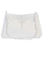 First Communion Purse with Pearl Cross