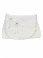 First Communion Purse with Organza Flowers